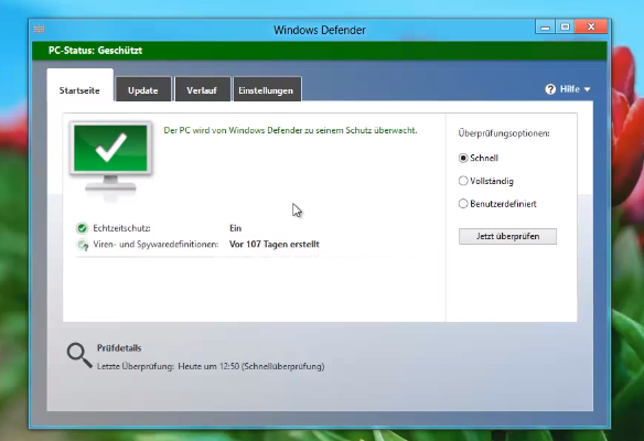 Windows Defender unter Windows 8 deaktivieren